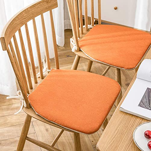 Plaid Chair Pads Solid Color Kitchen Seat Cushion