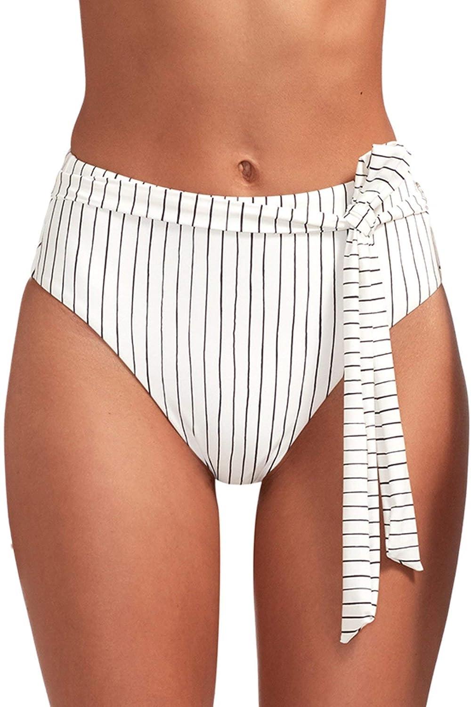 Vitamin A Women's Bolero Stripe Lola High Waist Bikini Bottom