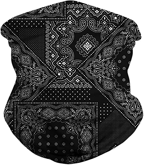 AGOLOD 4PCS Face Mask Headband Scarf Headwrap for Music Festivals Raves Outdoors