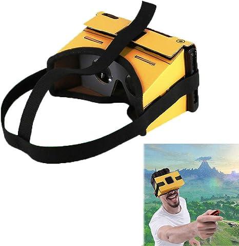 LICHIFIT Gafas de cartón VR para el tablero de cartón plegable para Nintendo Switch NS LABO VR con correa para auriculares: Amazon.es: Videojuegos