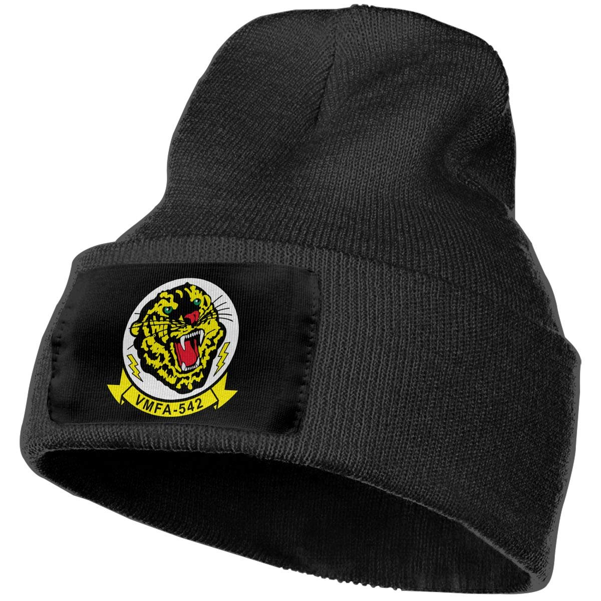 USMC VMFA-542 Men/&Women Warm Winter Knit Plain Beanie Hat Skull Cap Acrylic Knit Cuff Hat