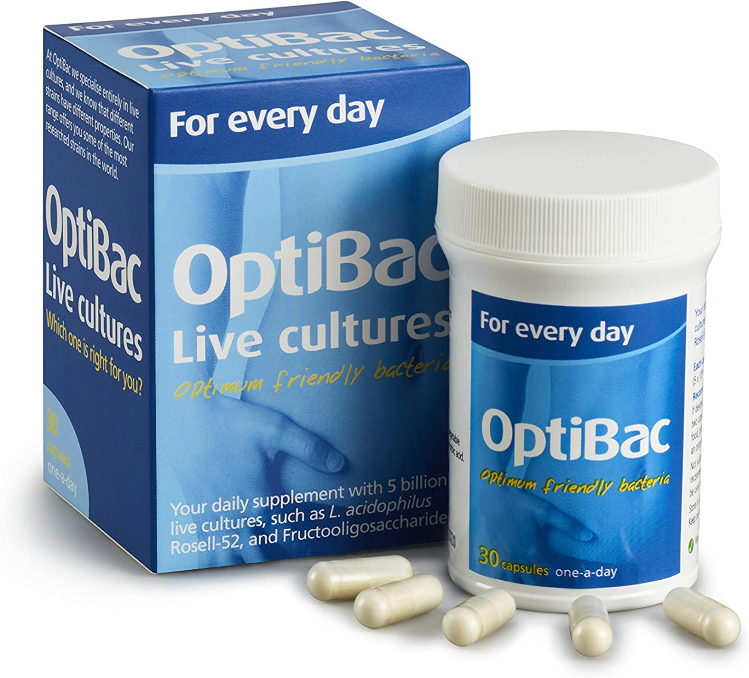 Optibac Probiotics for Daily Wellbeing - Pack of 30 Capsules