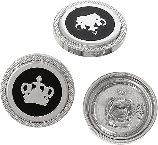 PEPPERLONELY Brand 10PC Antiqued Silver Flower Scrapbooking Metal Sewing Buttons with Shank 18mm 6//8 Inch