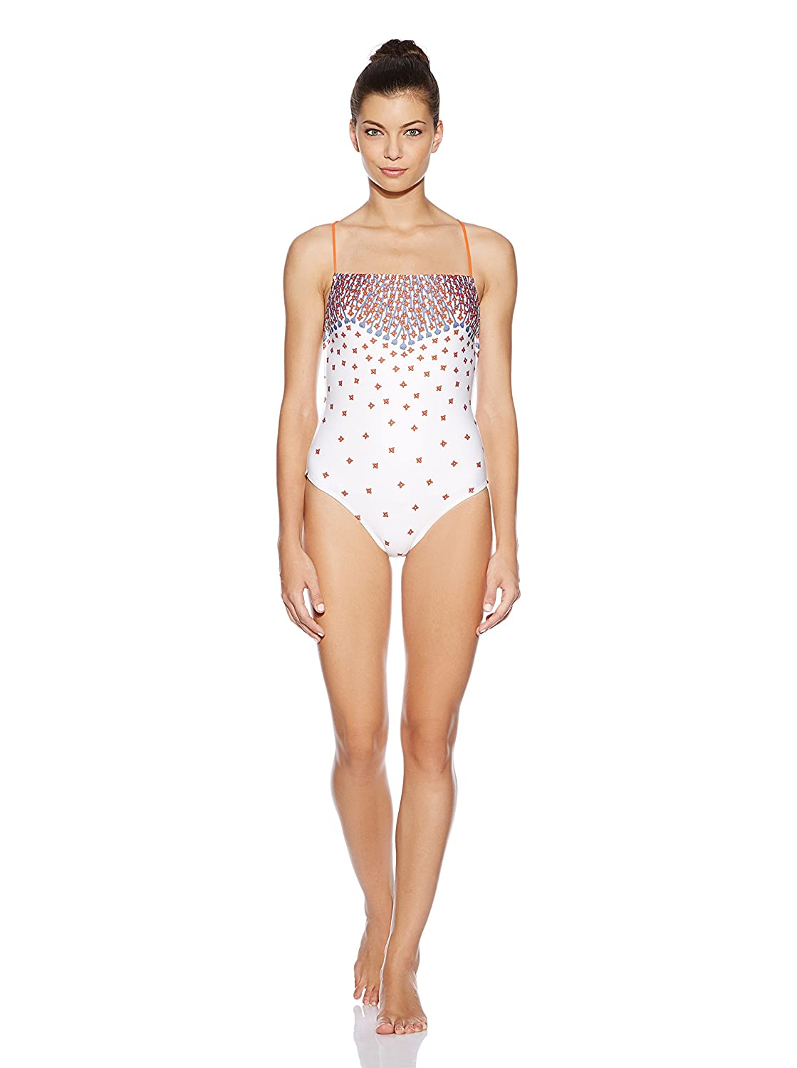 9f2b0aa40df Amazon.com: Marc by Marc Jacobs Chrissie's Floral Cross Back Maillot  Whisper White (MD (US 8)): Clothing