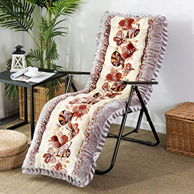 HMWPB Sun Lounger Cushions, Lounge Chair Cushion - Portable Garden Patio Thick Padded Bed Recliner Relaxer Chair Seat Cover for Travel Holiday Indoor Outdoor-l 48x148cm(19x58inch): Kitchen & Dining