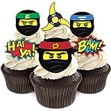 Ninja Cupcake Toppers for Ninja Themed Birthday Party Supplies