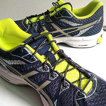 Elastic Lock Shoe Laces Shoelace Triathlon Running Trainers Boots Elasticated