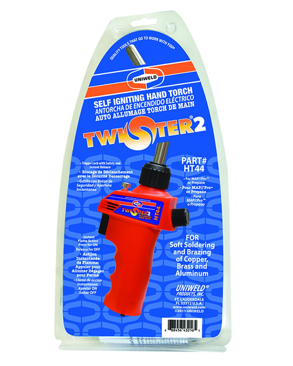 Uniweld HT44 Twister 2 Self Ingiting Hand Torch