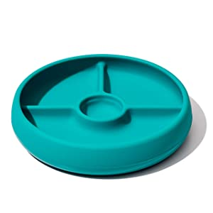 OXO Tot Silicone Divided Plate Teal