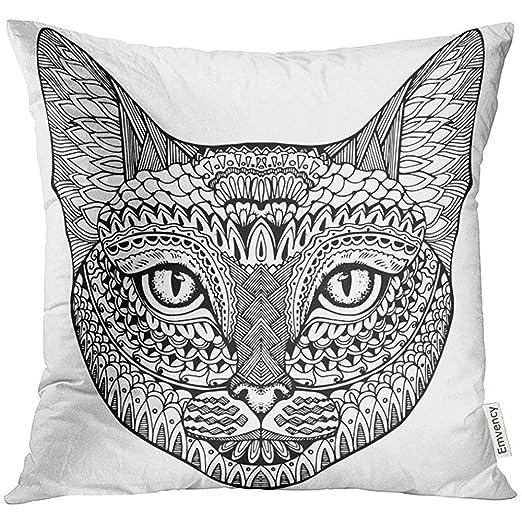 shizh Floral Gato Retrato de Cabeza de Gato Animal Lindo Mascota ...