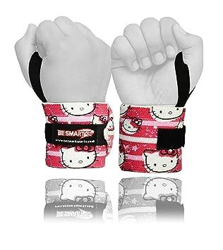 Levantamiento de pesas muñequeras para vendaje mano apoyo Brace Gimnasio Correas Algodón G, hombre, Hello Kitty: Amazon.es: Deportes y aire libre