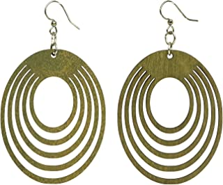 product image for Green Tree Jewelry Oval Offset Earrings