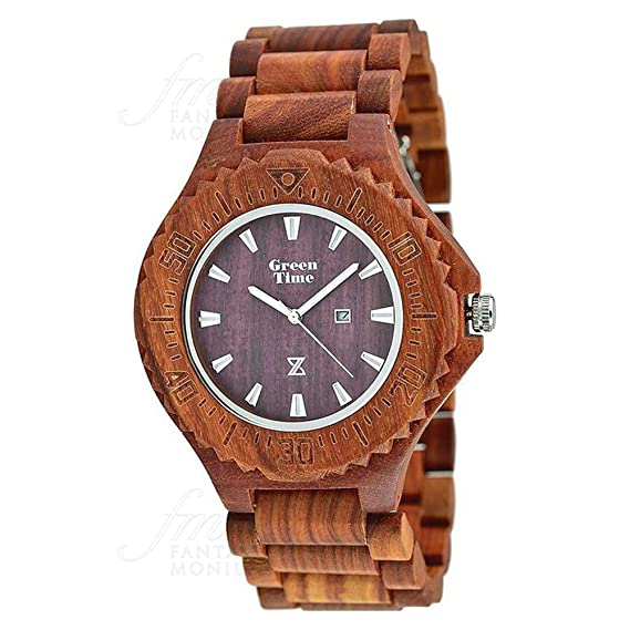 Reloj Green Time Hombre Madera Sándalo Wood zw001 a