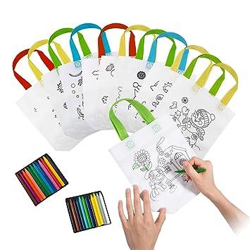 Comius Lote 12 Bolsas para Colorear,DIY Bolsas Infantiles ...
