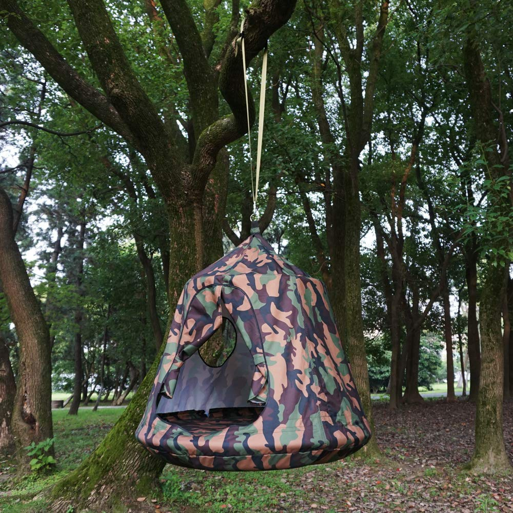 Kids Outdoor Waterproof Play Tent Hanging Hammock with Lights String (Camouflage) by HAPPY PIE PLAY&ADVENTURE (Image #5)