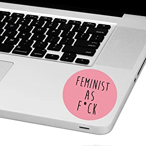 "Feminist AFLaptop Trackpad Sticker 3"" Tall x 3"" Wide"