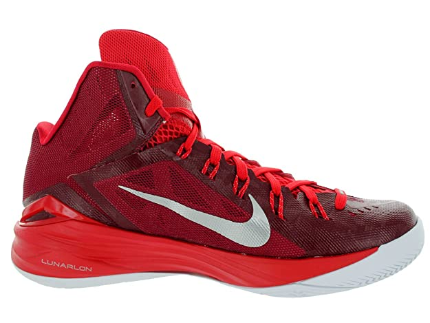 size 40 45f5c a5bb8 NIKE Hyperdunk 2014 TB Mens Basketball Shoes 653483-606 Team Red University  Red-White-Metallic Silver 10. 5 M US  Amazon.in  Shoes   Handbags