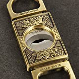 CIGARISM Leaves Engraving Zinc Alloy Cigar Cutter