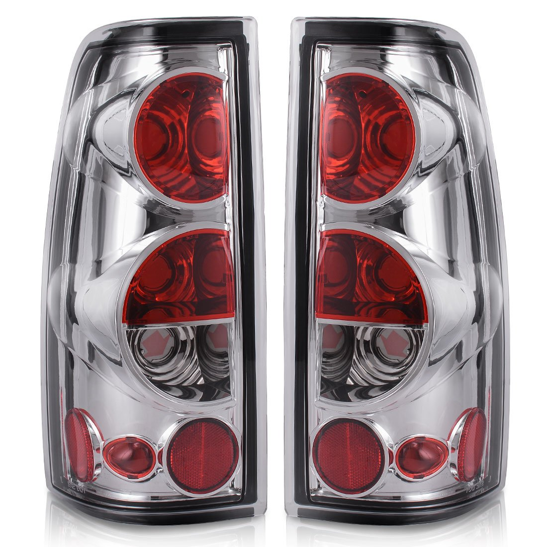 Taillights Tail Lamps For Chevy Chevrolet Silverado 1500 2500 3500 1999-2006 & 2007 with Classic Body Style GMC Sierra 1500 2500 3500 1999-2002 (Do Not Fit Barn Door/Stepside Models) AUTOSAVER88