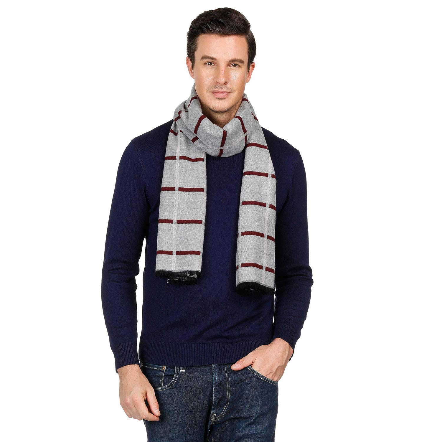 """Coloris Edition 100% Pure Cashmere Viscose Winter Scarf for Men Boys Warm 18""""x71"""" - Silky Soft Cashmere Scarf Gift"""