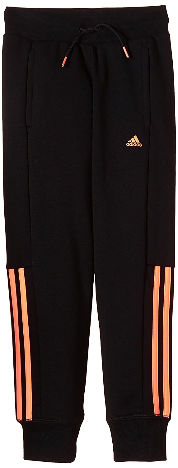 adidas Essentials Girls'Tracksuit Bottoms with 3–Stripes Mid Closed Hem S21139