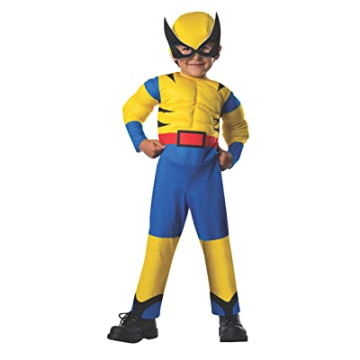 Rubie's Costume Baby Boy's Marvel Classic Costume Lil Wolverine, Multi, Toddler: Clothing