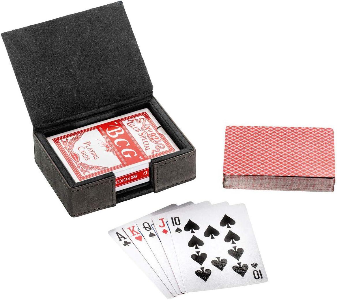 Tarjetas de juego con caja