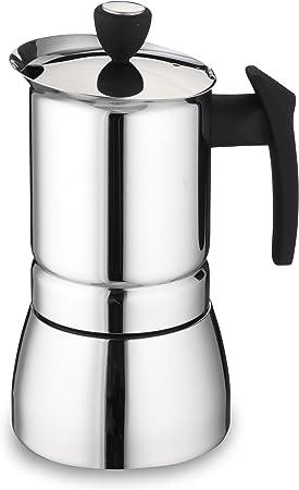 Cafe Ole de Grunwerg - cafetera Espresso Estilo Italiano de Acero Inoxidable. 9 Tazas, Acero Inoxidable, Plateado, 4 Cup: Amazon.es: Hogar