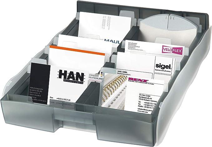 schwarz HAN 2002-13 Visitenkartenbox Cognito f/ür 20 Visitenkarten 10er Packung