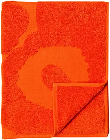 Marimekko Unikko Solid Hand Towel Orange Amazon Co Uk Kitchen Home