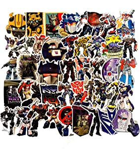 Transformers Stickers for Water Bottles 50Pcs Cute,Waterproof,Aesthetic,Trendy Stickers for Teens,Girls Perfect for Waterbottle,Laptop,Phone,Travel Extra Durable Vinyl