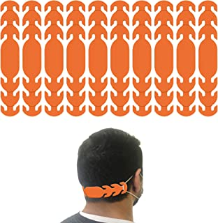 product image for Ear Strap Extender for Masks with 3 Slots to Fit All (Made in USA) Color Options (10 Pieces) (Orange)