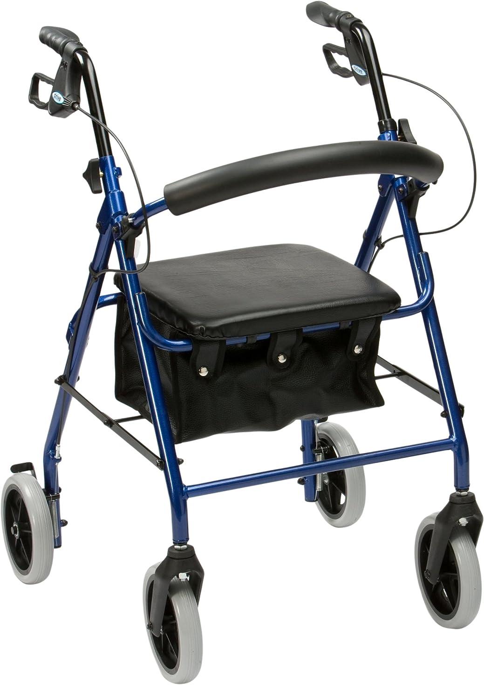 Drive Medical R6BL-23 - Andador de aluminio con ruedas, color azul ...