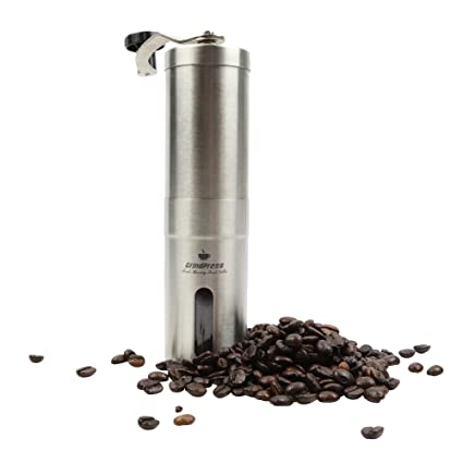 Amazon Com Grindpress Premium Manual Brushed Stainless Steel Coffee
