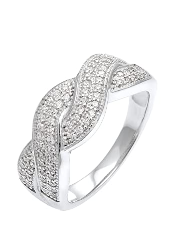 Elli Women's 925 Sterling Silver Xilion Cut Zircon Ring UTkKR