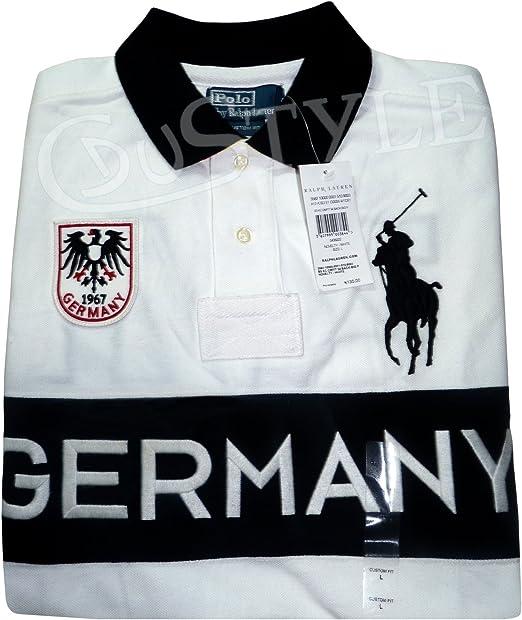 Ralph Lauren Polo Big Pony Germany Alemania L Color Blanco: Amazon ...