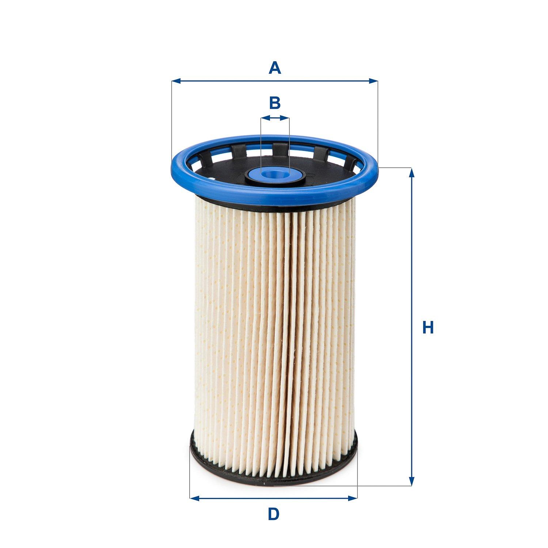 Ufi Filters 26.026.00 Filtro in Linea per Diesel