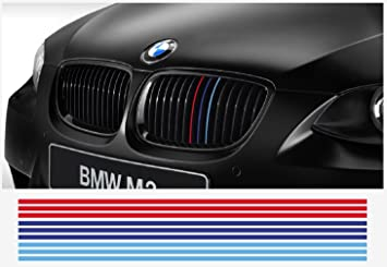 BMW M Performance M Stripe Decal Grill Grill Cm Pcs Set Red - Bmw grille stripe decals