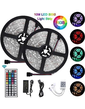 Bonve Pet Tiras LED 10m 5050 RGB, Tiras de Luces LED Iluminación con 300 Leds