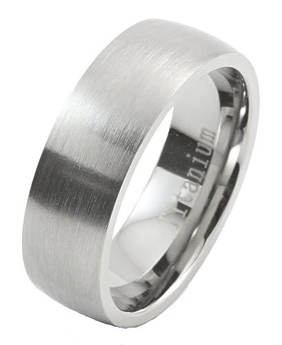 7MM Brushed Grade 5 Titanium Comfort Fit Ring Wedding Band Size