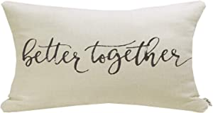 Meekio Farmhouse Pillow Covers with Better Together Quote 12
