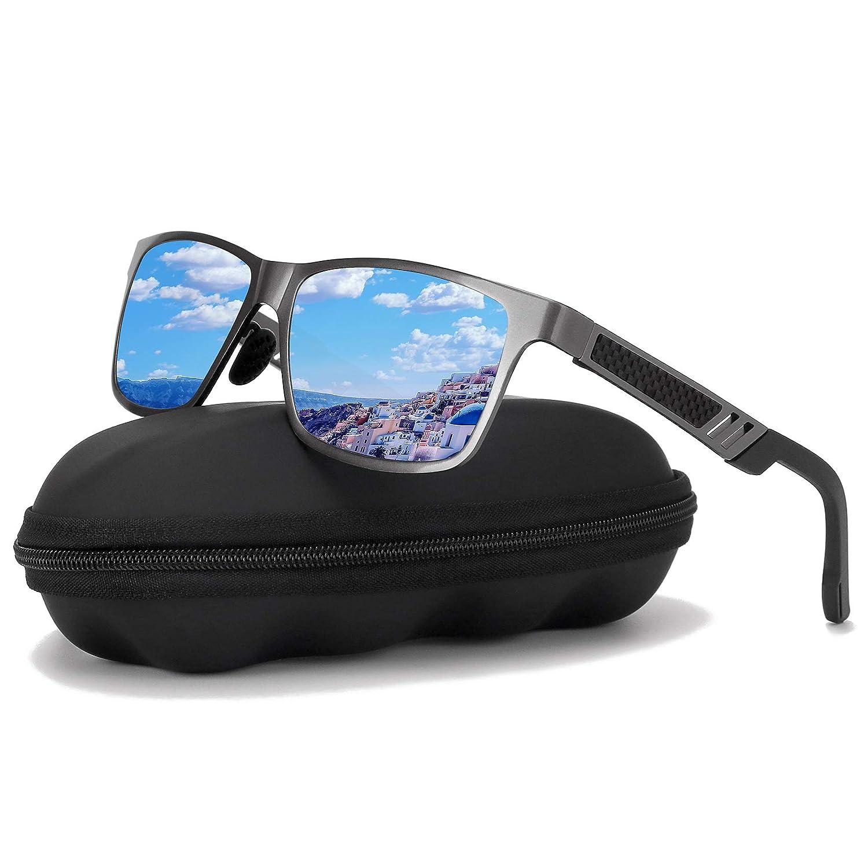 bluee Polarized Driving Sunglasses For MenGOUDI Mens Women AlMg Metal Frame Lightweight Fishing 100% UV Sports Outdoors GD8003