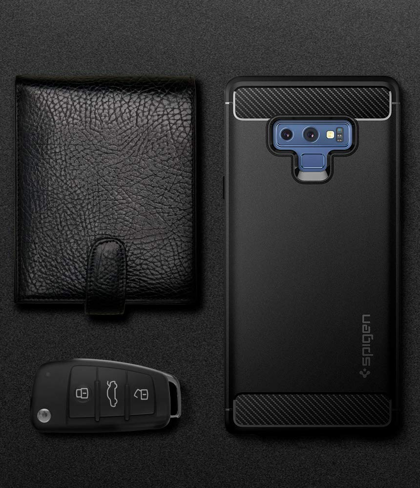 Spigen Rugged Armor Galaxy Note 9 Case with Resilient Shock Absorption and Carbon Fiber Design for Galaxy Note 9 (2018) - Matte Black by Spigen (Image #8)