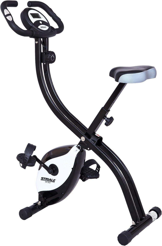STRIALE SV 312 - Bicicleta plegable magnético, Negro / Blanco ...