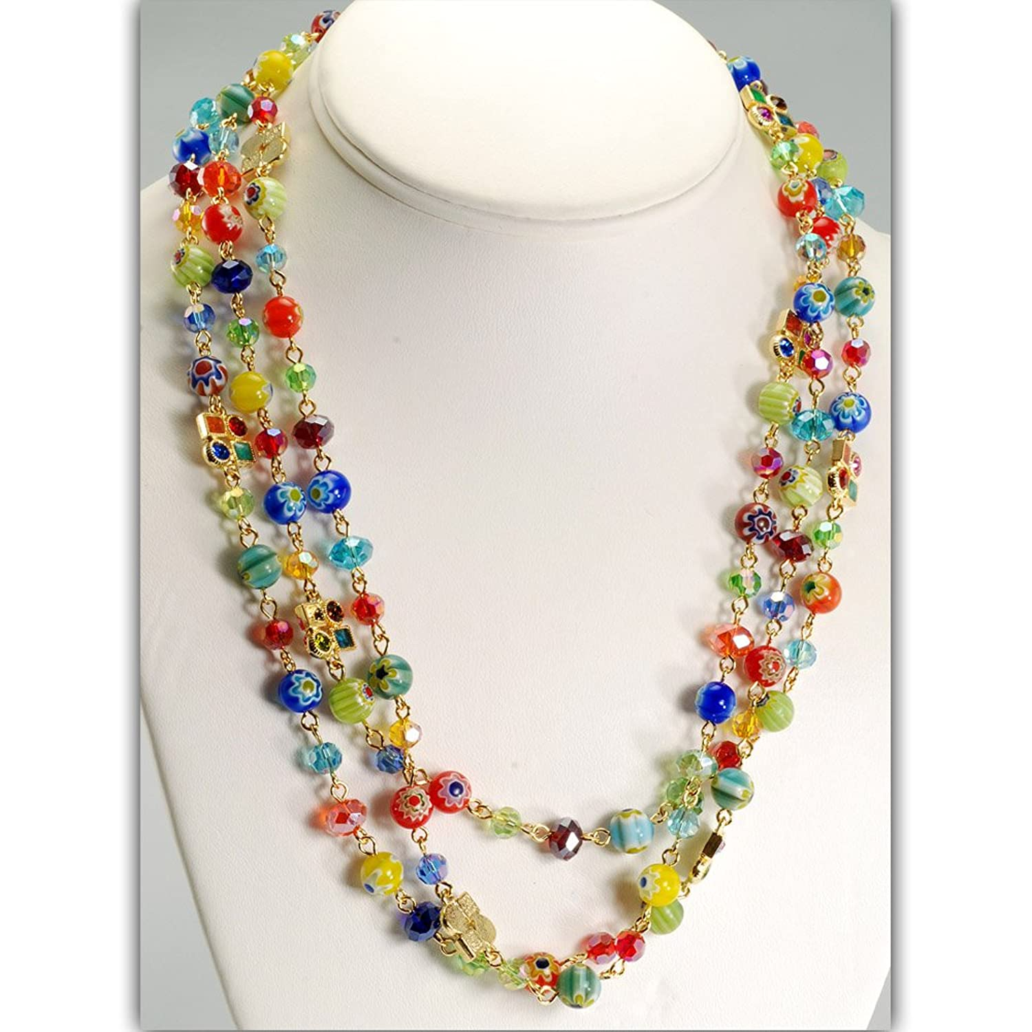 1950s Costume Jewelry Sweet Romance Long Candy Beads Necklace $54.00 AT vintagedancer.com