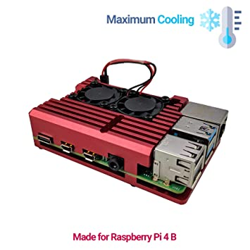 Amazon.com: Artik Raspberry Pi 4 Case | RED | Cooling ...