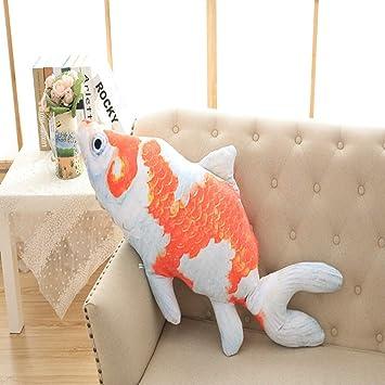 JEWH Cartoon 3D Simulation Plush Toy carp Dolls - Cute Big Fish Sleep  Pillow Doll for 82475fea97ac