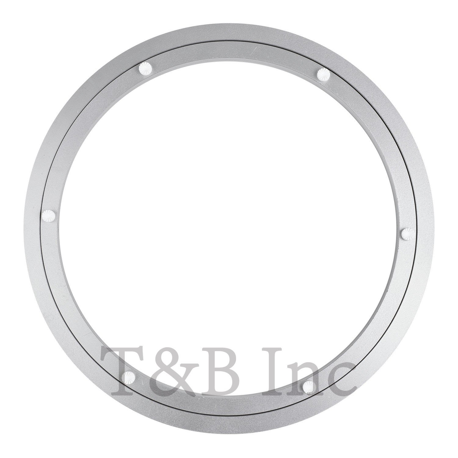 TamBee 350mm Lazy Susan 14 inch Aluminum Bearing Metal Rotating Turntable Bearings Swivel Plate Hardware for Dining-Table
