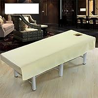 Housse de table de massage Coton Étanche Mode Salon de Beauté Corps Spa Massage Table Tissu Feuille de Couverture de Lit avec Visage Trou Pur Couleur