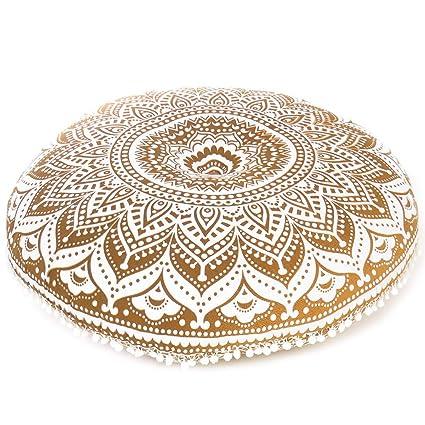 """Eyes of India - 32"""" Suelo Almohada Meditación Cojín Cubierta de Asientos Mandala Manta Redondo"""